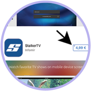On your mobile or tablet go to the app store and download the StalkerTV app.